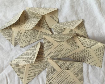 Petite Vintage Book Pages Envelopes