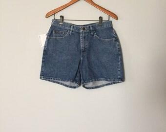 90s mini shorts | indigo blue denim shorts