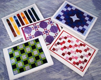 24 Sets of 5 Quilt Note Cards (wholesale)