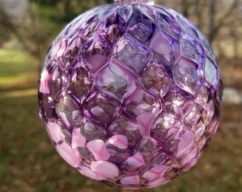 Purple Hand Blown Christmas Ornament and Suncatcher