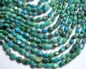 Chrysocolla  gemstone - bead - full strand - pebble - nugget -  8mm  - PSC323