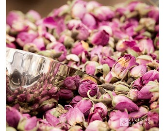Flower photography, dried roses photography, pink, petals photography, market photography, kitchen art, roses, farmers market art