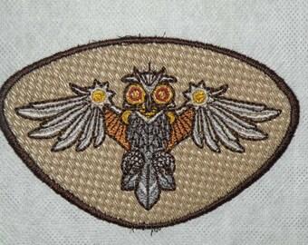 Clockwork Owl Iron on Patch