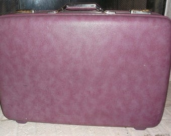 Vintage  Purple Suitcase American Tourister Clean and with Key Luggage