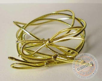 """50 Gold Stretch Loops - 8"""" - Packaging - Gifts - Bow"""