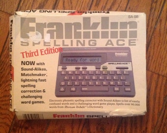 Vintage 1990 Franklin Spelling Ace SA-98 Third Edition