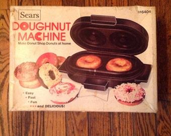 Vintage Sears Doughnut Machine Recipe Book in Box