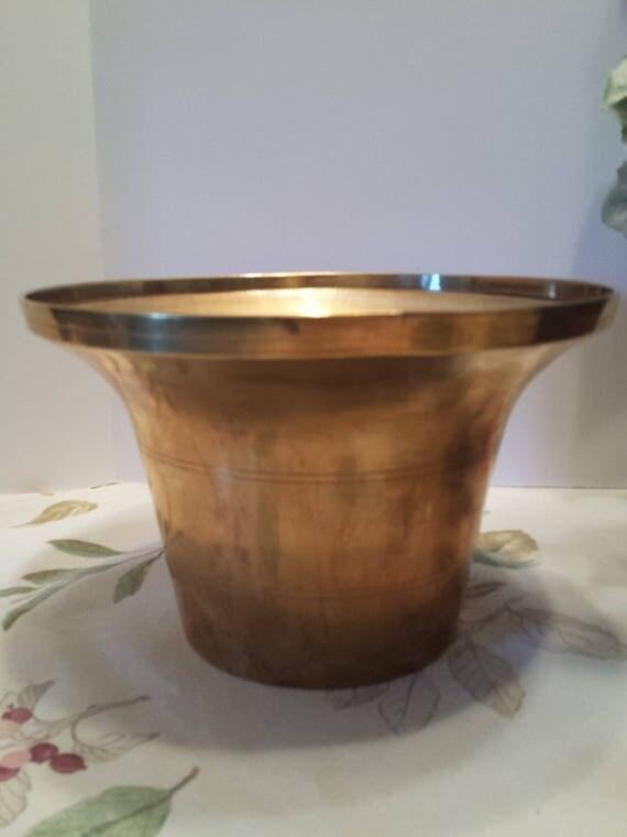 Solid Brass Planter Pot - Decorative Brass Pot - Brass Pot Made in Korea No. B233