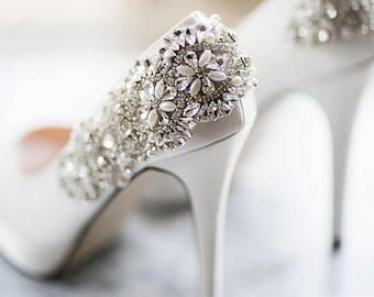 Designed By You! Wedding Shoes - Choose Your Color - Add Crystals Pearls Lace Bows  Custom Created By You!  Wedding Shoes That You Design