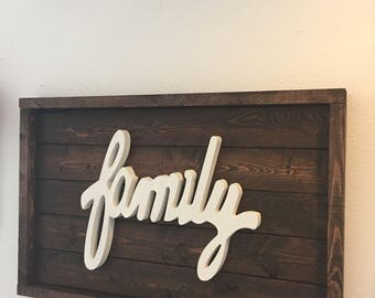 Wooden Family Sign/Home Decor/Wall Hangings/Family/Wood Sign/Wall Art/ Signs/Family Sign/Wooden Sign
