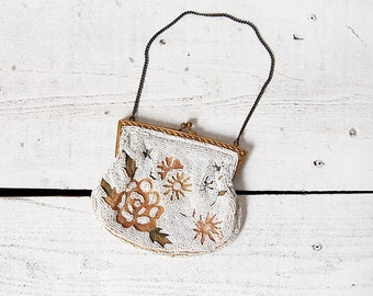 vintage 1930s purse / 30s french purse / 1930s beaded purse / Miraval purse
