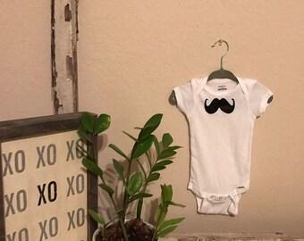 Mustache Onesie