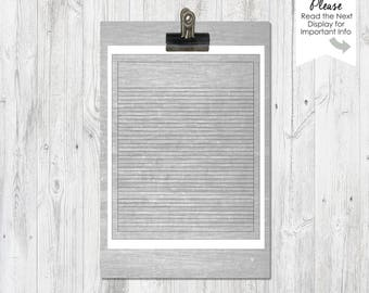 Notepaper Templates   4x6 inch   5x7 inch   8x10 inch   Shopping /To Do Lists   PNG Files   Stationary