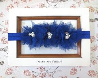 Royal Blue baby headband, baby bow headband,royal blue girl hair bow,baby head band, infant headband, newborn headband, toddler hair bow