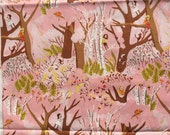 SALE : Heather Ross Tiger Lily Climbing Trees pink FQ or more Oop Htf