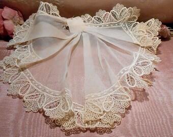 Lace Antique Edwardian Dress Lace Jabot