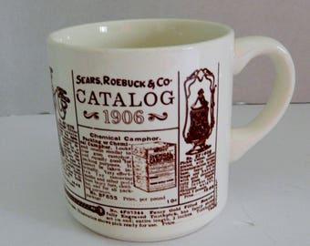 Sears Roebuck & Co 1906 Catalog Advertising Collectible Coffee Cup Mug USA