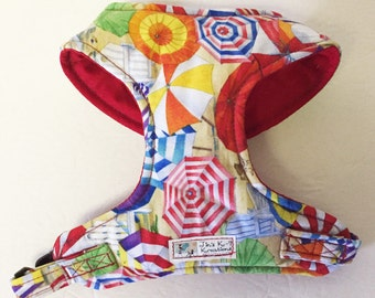 Beach Theme Comfort Soft Dog Harness -Made to Order -