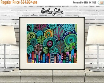 50% Off Today- Manhattan City Art Central Park of painting (HG604)