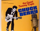 "Chuck Berry Vinyl Record Album LPs 1950s Mid-Century St. Louis Rock and Roll Roots Electric Guitar ""The Great Twenty-Eight"" (1984 Chess)"