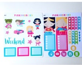 Superhero Planner Stickers - Set of two sheets - Happy planner weekly decorative matte paper planner stickers #47