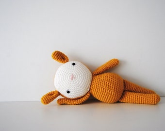 Amigurumi Yellow Bunny, crochet doll, crochet plushie, toy, ready to ship