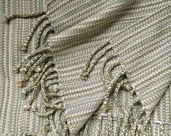 Alpaca, Silk, and Merino Wool Throw