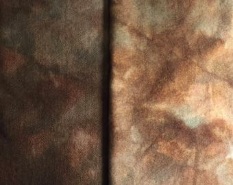 Vintage Sable - hand dyed rug hooking wool fabric -  1/4 yard dyed on Oatmeal or Natural Wool