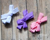 infant classic hair bow..You pick one, hair bow, hair clip, non-slip grip, baby hair bow, alligator clip