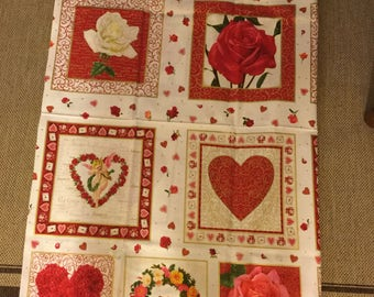 Quilter Quality Fabric - Out Of Print-Makower UK-Endless Love Collection-44 x 23 Inche Panel