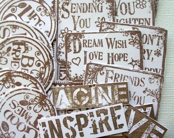 Accessory Pack 1; Junk Journals, Mixed Media, Journal Spots, Scrapbooking, Smash Books , Meaningful Words