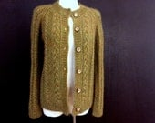 Cable knit cardigan from super kid mohair with silk yarn - Custom order for Lorna