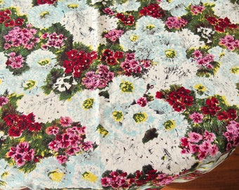 Cotton Fabric Vintage Fabric Piece Table Runner Floral Dress Weight 25 x 67