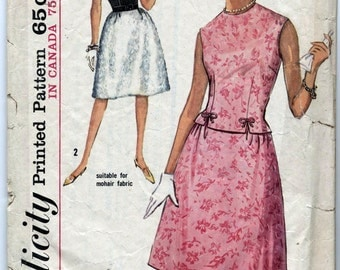 Vintage Misses' Two-Piece Dress Sewing Pattern - Simplicity 5153 - Size 14 - Bust 34