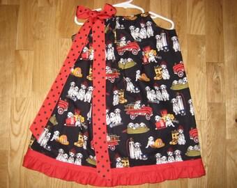 Little Firefighter Pillowcase Dress