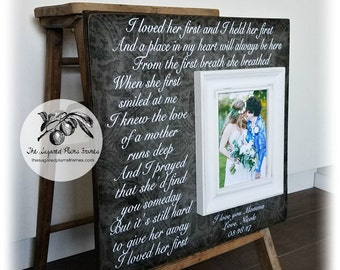 Mother of the Bride, Gift For Mom, I Loved Her First, 16x16 The Sugared Plums Frames