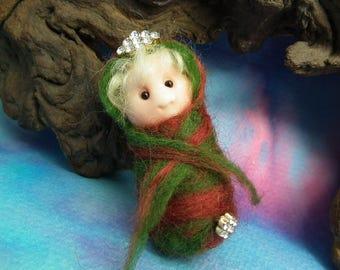 Peril is afoot ... 'Princess Aeva' Rustic Swaddled Baby Elf Infant Bundle in hiding OOAK SCULPT Ann Galvin