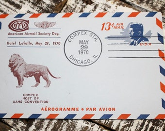 6 Airmail Envelopes, First Issue Stamps, Vintage Airmail, Kennedy 1970, Airplane 1958, Kennedy 1965 Boston