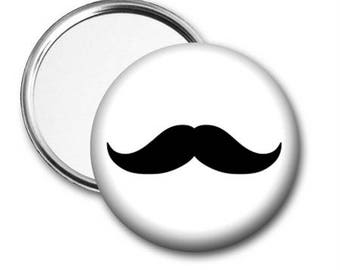 Mustache Pocket Mirror - choose from 2 styles