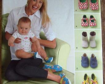 Cute Baby Shoes Pattern Simplicity 2278 UNCUT