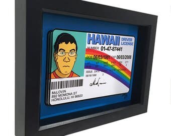 McLovin Fake ID Superbad 3D Art McLovin Drivers License Hawaii Pop Art Print