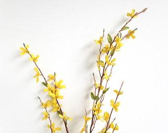Forsythia, faux forsythia, blooming branch, spring branch, yellow forsythia, forsythia branch, forsythia wreath