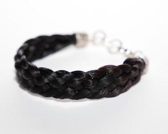 Wide Horse Hair Bracelet