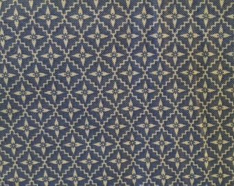 Cotton Fabric, 1/4 Yard, Periwinkle White Diamond Star, Quilt, Quilting, Windham Fabrics, Modern Country, Pillow, Sewing, Gift, Easter