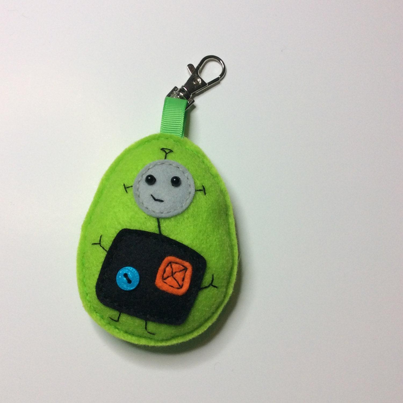 Bag charm key ring keychain diy kit felt