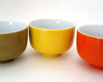Vintage Tea Cups 1970s Great Colors