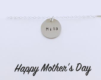 Personalized Mommy Necklace - Custom Name Necklace, Children Necklace, Sterling Silver Necklace, Keepsake Necklace, Gift for Mom