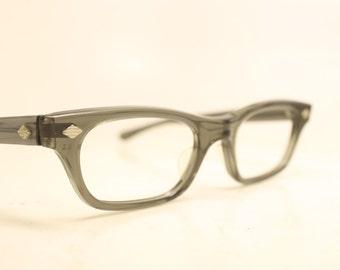 Gray cat eye eyeglasses vintage cat eye glasses frames Cateye frames