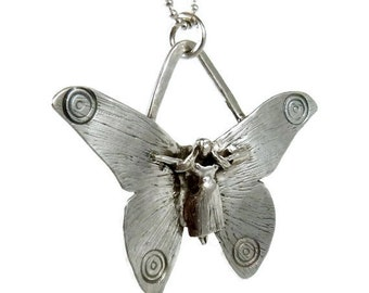 Fairy Butterfly Jewelry, Butterfly Jewelry For Women, Unusual Butterfly Jewelry, Robin Wade Jewelry, Fairy Ella Is Enough, Art Pendant, 1678