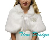Black Friday Faux fur capelet Fox for kids White, faux fur wrap, faux fur shrug, Winter white fur cape, faux fur shawl and wraps
